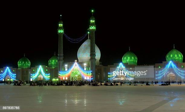 jamkaran shia muslim mosque for imam mahdi night - jamkaran mosque stock pictures, royalty-free photos & images
