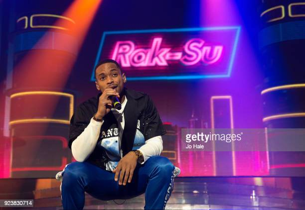 Jammaal Shurland of RakSu performs on stage at X Factor Live Tour at SSE Arena on February 24 2018 in London England