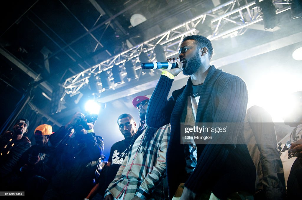 Jammer and Ghetts perform on stage at 'The Eskimo Dance' at 02 Academy on February 9, 2013 in Leicester, England.