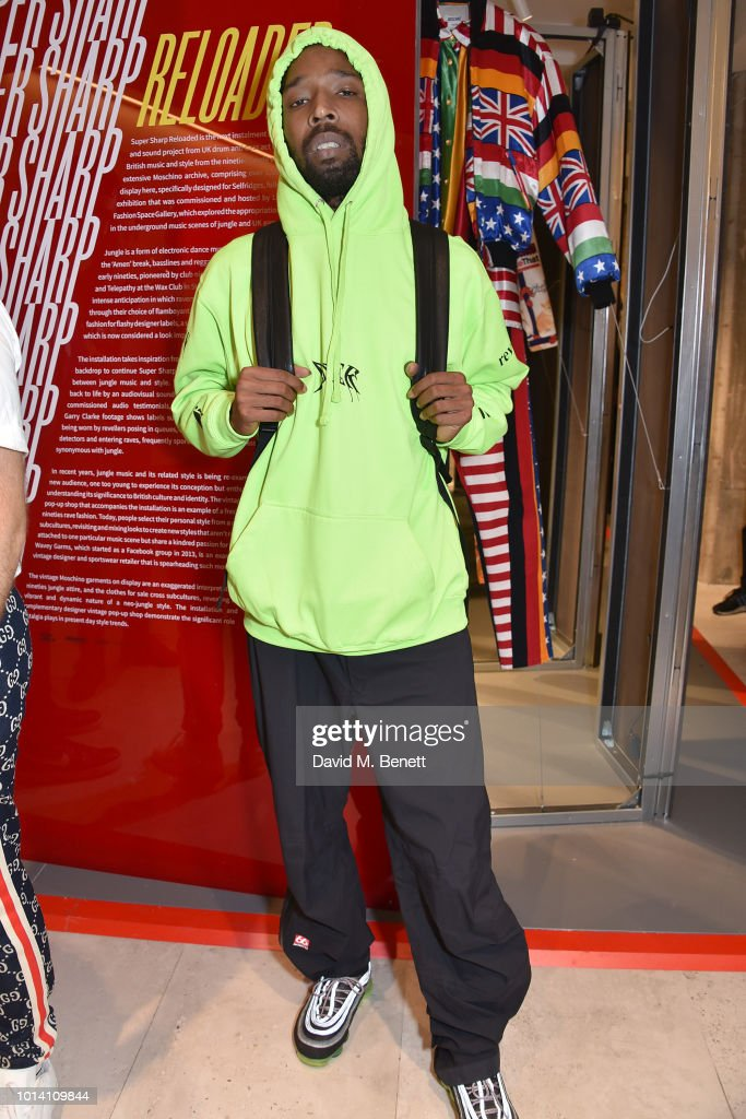 Jammer attends the launch of 'Super Sharp Reloaded', a new installation and pop-up shop by Saul Milton and Tory Turk, presented by Selfridges and Reebok at Selfridges on August 9, 2018 in London, England.
