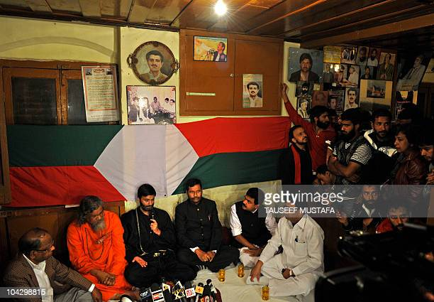 Jammu and Kashmir Liberation Front chairman Muhammad Yaseen Malik meets with an Indian parliamentary delegation at his residence in Srinagar on...