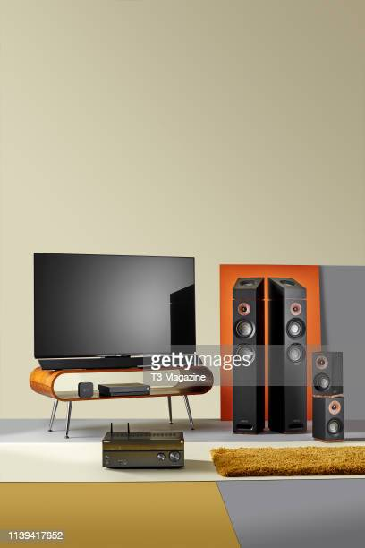 A Jamo S807 HCS Atmos 512 sound system Panasonic TX65FZ952B OLED television and a Sony STRDN1080 Dolby Atmos AV Receiver taken on October 4 2018