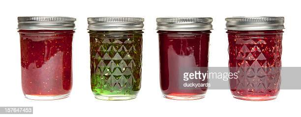 jams and jellies - jar stock pictures, royalty-free photos & images