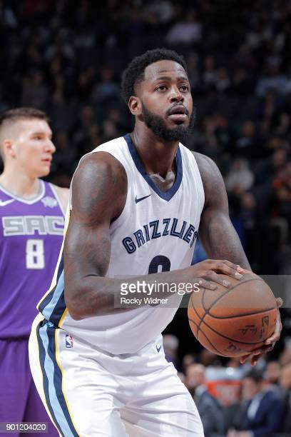 JaMychal Green of the Memphis Grizzlies attempts a freethrow shot against the Sacramento Kings on December 31 2017 at Golden 1 Center in Sacramento...