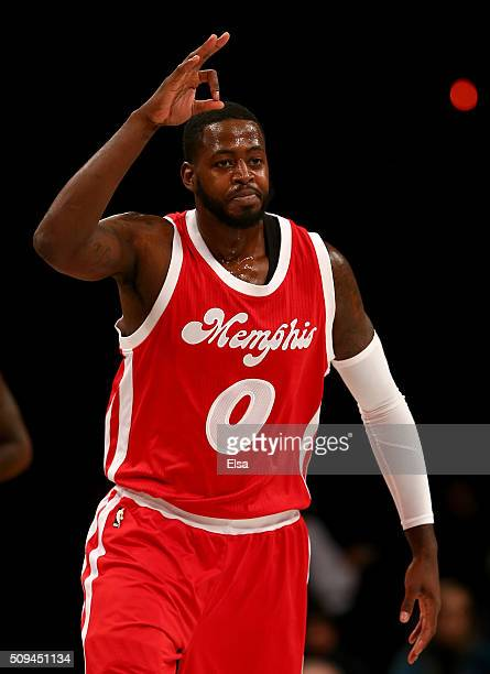 JaMychal Green of the Memphis Grizzlies celebrates his three point shot in the second half against the Brooklyn Nets on February 102016 at the...