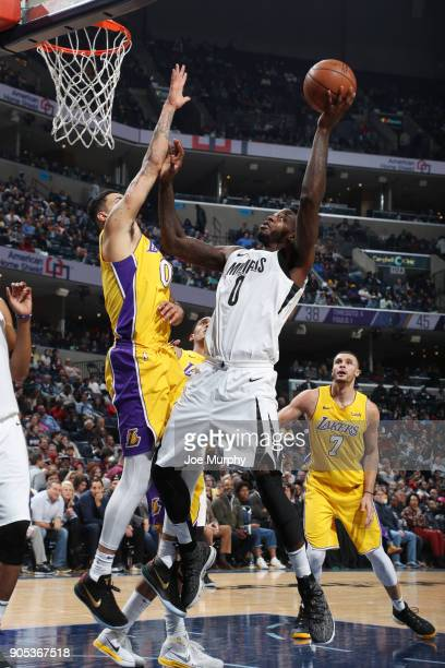 JaMychal Green of the Memphis Grizzlies dunks against the Los Angeles Lakers on January 15 2018 at FedExForum in Memphis Tennessee NOTE TO USER User...