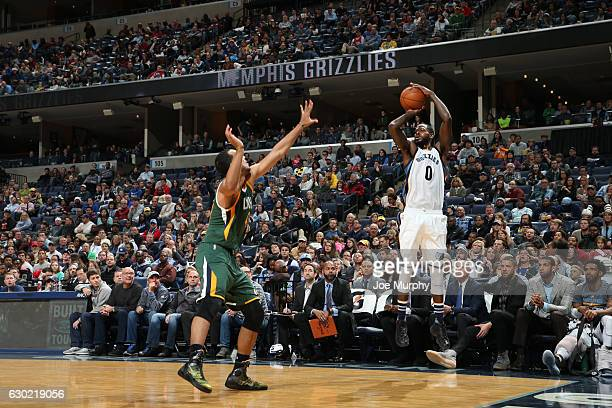 JaMychal Green of the Memphis Grizzlies goes up for a shot during a game against the Utah Jazz on December 18 2016 at FedExForum in Memphis Tennessee...