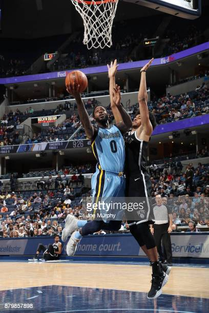 JaMychal Green of the Memphis Grizzlies handles the ball against the Brooklyn Nets on November 26 2017 at FedExForum in Memphis Tennessee NOTE TO...