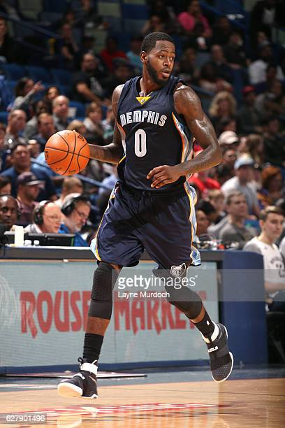 JaMychal Green of the Memphis Grizzlies handles the ball during the game against the New Orleans Pelicans on December 5 2016 at the Smoothie King...