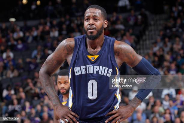 JaMychal Green of the Memphis Grizzlies looks on during the game against the Sacramento Kings on March 27 2017 at Golden 1 Center in Sacramento...