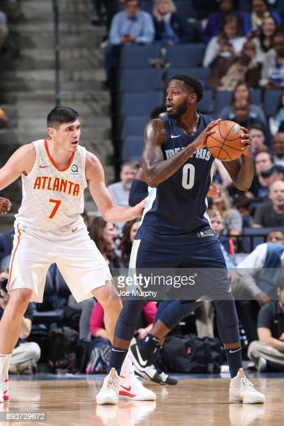 JaMychal Green of the Memphis Grizzlies moves to pass the ball against the Atlanta Hawks on December 15 2017 at FedExForum in Memphis Tennessee NOTE...