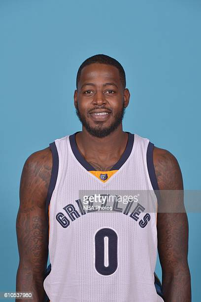 JaMychal Green of the Memphis Grizzlies poses for a head shot during the 20162017 Memphis Grizzlies Media Day on September 26 2016 at FedExForum in...