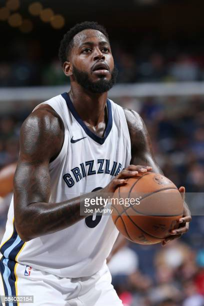 JaMychal Green of the Memphis Grizzlies shoots a free throw against the San Antonio Spurs on December 1 2017 at FedExForum in Memphis Tennessee NOTE...