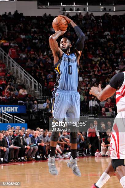 JaMychal Green of the Memphis Grizzlies shoots the ball during a game against the Houston Rockets on March 4 2017 at the Toyota Center in Houston...