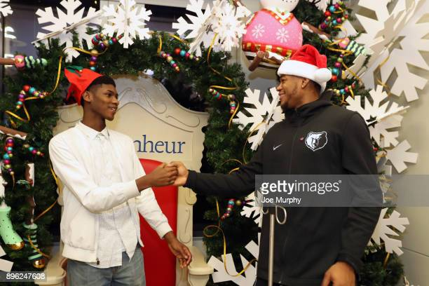 JaMychal Green of the Memphis Grizzlies visits with children on December 18 2017 at LeBonheur Children's Hospital in Memphis Tennessee NOTE TO USER...