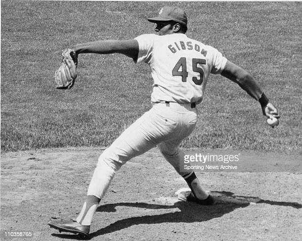 Jan 09 2006 USA [Exact Date and Location Unknown] BOB GIBSON of the St Louis Cardinals pictured in 1970