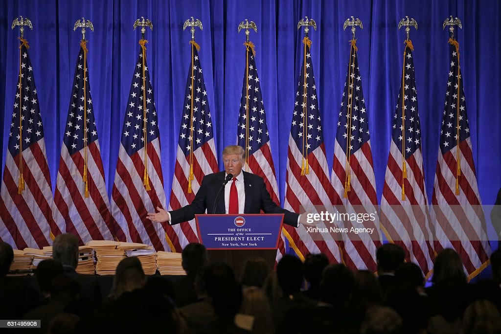 U.S.-NEW YORK-PRESIDENT-ELECT-TRUMP-NEWS CONFERENCE : News Photo