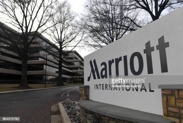 Jan. 12, 2018: Photo taken on Jan. 11, 2018 shows the headquarters of Marriott International in Bethesda, Maryland, the United States. U.S. Hotel...