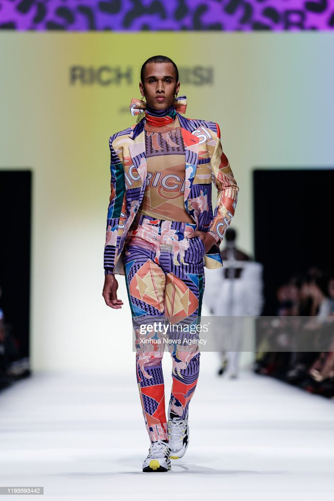 Berlin Jan 13 2020 A Model Presents A Creation Of South African News Photo Getty Images