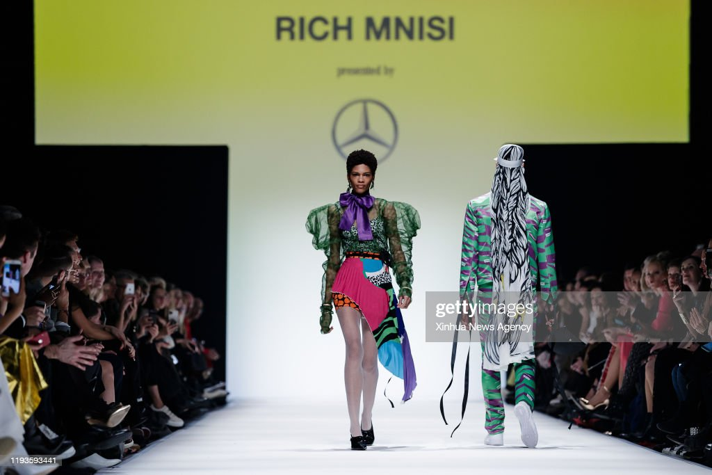 Berlin Jan 13 2020 Models Present Creations Of South African News Photo Getty Images