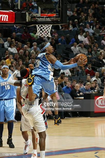 Jan 14 2008 Charlotte North Carolina USA NBA Basketball Denver Nuggets' ALLEN IVERSON drives to the hoop against the Charlotte Bobcats on Jan 14 2008...