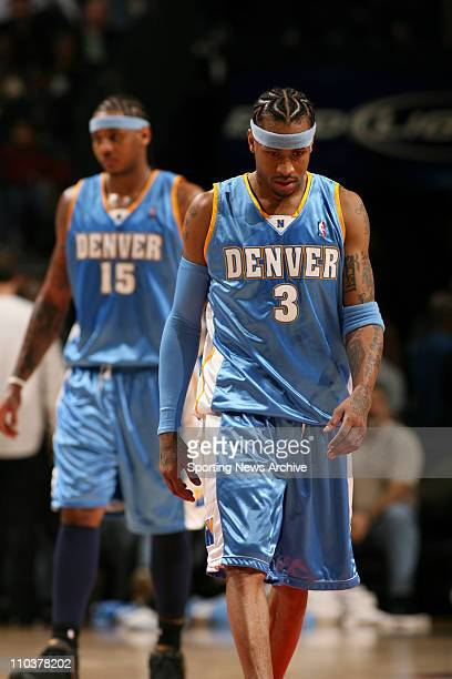 Jan 14 2008 Charlotte North Carolina USA NBA Basketball Denver Nuggets' ALLEN IVERSON against Charlotte Bobcats on Jan 14 2008 in Charlotte NC The...
