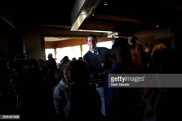 Jan 16 2012 Conway SC USA Republican Presidential candidate RICK SANTORUM hosts a meet and greet at Crady's Restaurant The South Carolina primary...
