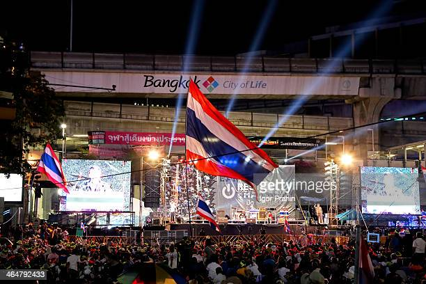 CONTENT] Jan 16 2014 Bangkok Thailand Early evening at one of the busiest stages opposite the popular MBK shopping complex Tens of thousands of...