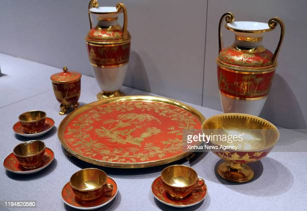 Jan. 16, 2020 -- Photo taken on Jan. 16, 2020 shows the exhibits at an exhibition on Napoleon Bonaparte in Zhengzhou, capital of central China's...