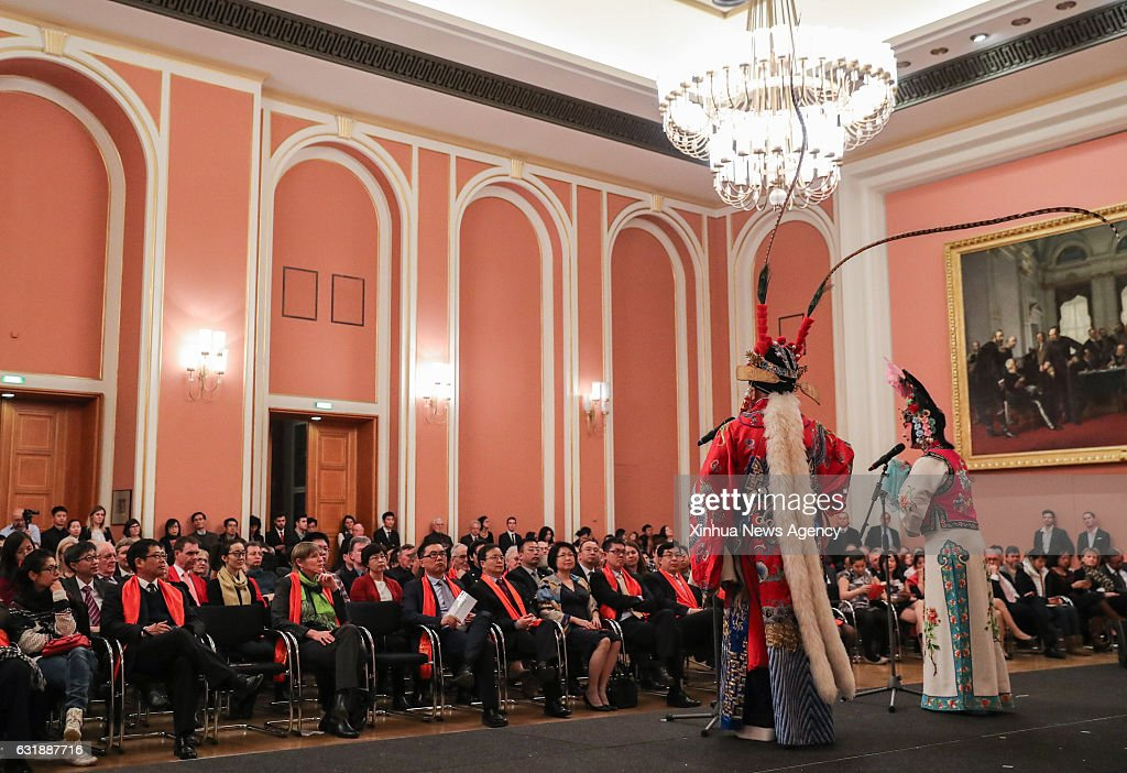 "GERMANY-BERLIN-""HAPPY CHINESE NEW YEAR"" 2017 : News Photo"