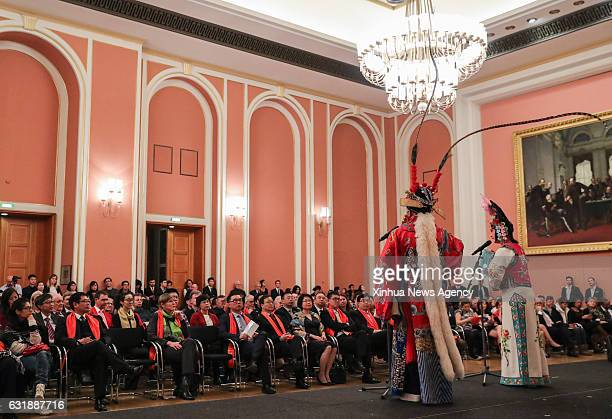 BERLIN Jan 17 2017 Audience watch a selection of Beijing Opera during Happy Chinese New Year 2017 which is held by Chinese Culture Center Berlin at...