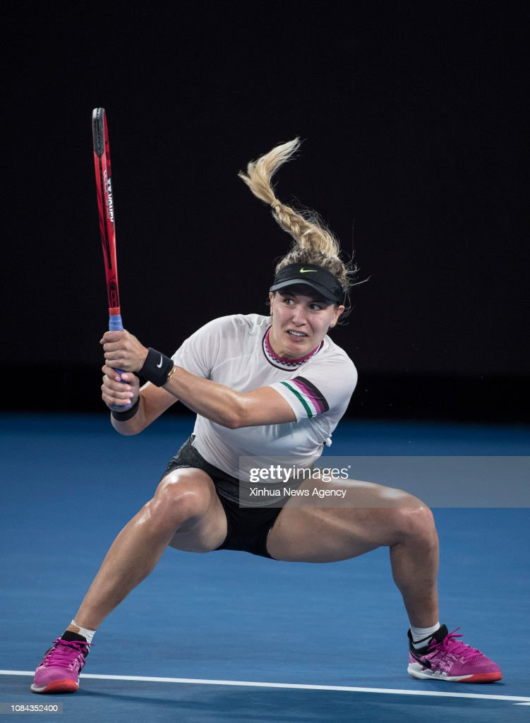 Melbourne Jan 17 2019 Eugenie Bouchard Of Canada Returns The