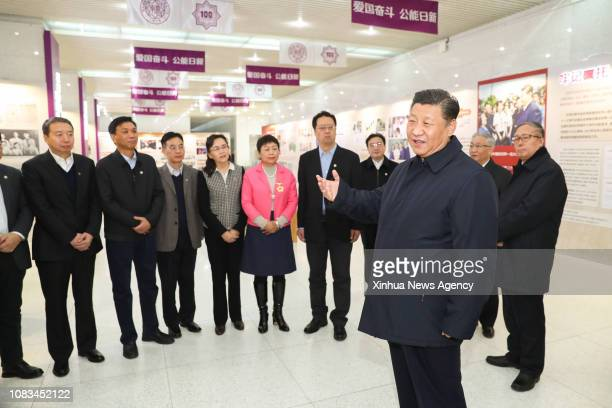TIANJIN Jan 17 2019 Xi Jinping general secretary of the Central Committee of the Communist Party of China Chinese president and chairman of the...