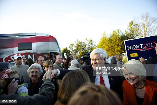 Jan 18 2012 Easley SC USA Republican Presidential candidate NEWT GINGRICH held a town hall meeting at Mutt's Restaurant The South Carolina primary is...