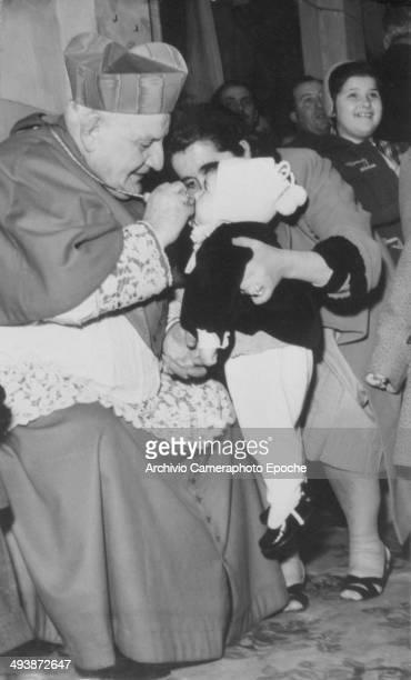 Jan 1956 Cardinal Roncalli at the Carabinieri Epiphany