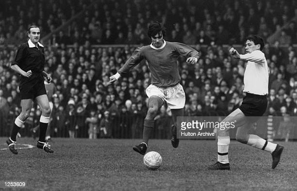 George Best of Manchester United and Northern Ireland during a league match Mandatory Credit Allsport Hulton/Archive