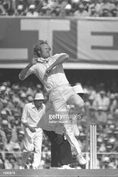 Tony Greig of Australia bowling during the second test match against India in Calcutta Mandatory Credit Adrian Murrell/Allsport