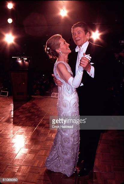 Jan 1981: Newly Elected Preident Ronald Reagan Seen Here Dancing With His Wife Nancy At The Inaugural Ball. Mandatory Credit: 2