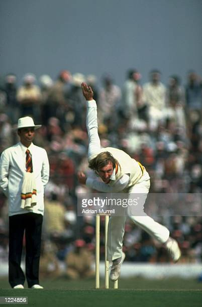 John Lever of England bowls during the match against the East Zone during their tour to India Mandatory Credit Adrian Murrell/Allsport