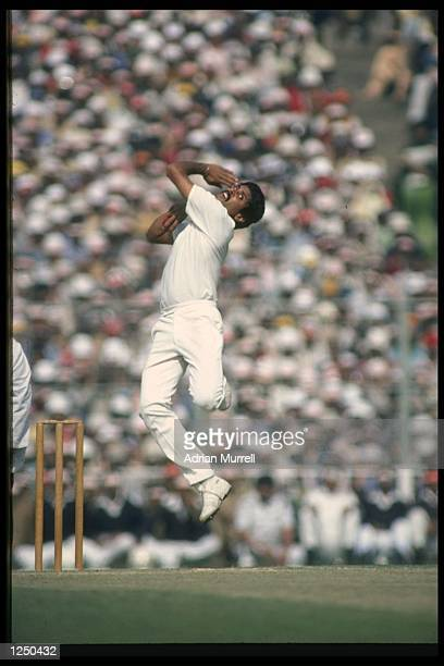 Kapil Dev India's top fast bowler in action Mandatory Credit /Allsport UK
