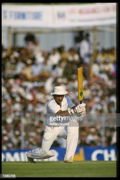 Sunil Gavaskar of India coverdrives during a one day international against England Mandatory CreditAdrian Murrell/Allsport UK