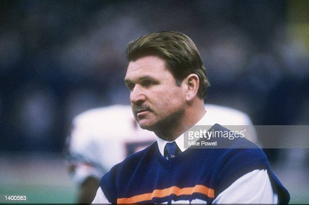 Head coach Mike Ditka of the Chicago Bears during the Bears 46-10 victory over the New England Patriots in Super Bowl XX at the Louisiana Superdome...