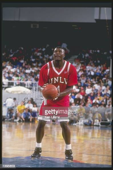 Forward Larry Johnson Of The UNLV Rebels In Action During A Game