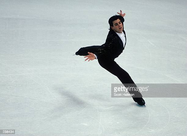 Christopher Bowman of the USA in action during the 1992 US Figure Skating Championships in Orlando Florida Mandatory Credit Scott Halleran/Allsport