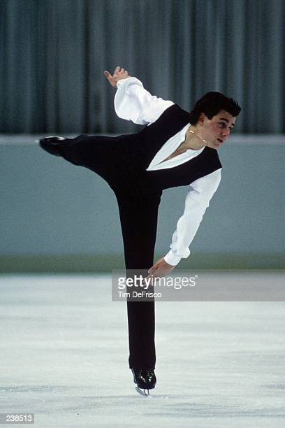 Christopher Bowman of the USA in action during the 1992 US Figure Skating Championships in Orlando Florida Mandatory Credit Tim DeFrisco/Allsport