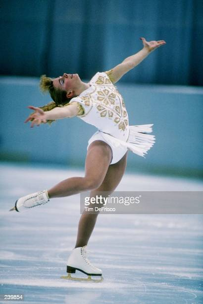 Tonya Harding does her routine during the US Figure Skating Championships in Orlando, Florida. Mandatory Credit: Tim de Frisco /Allsport