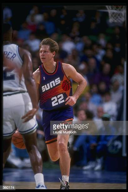 Guard Danny Ainge of the Phoenix Suns moves the ball during a game Mandatory Credit Layne Murdoch /Allsport Mandatory Credit Layne Murdoch /Allsport
