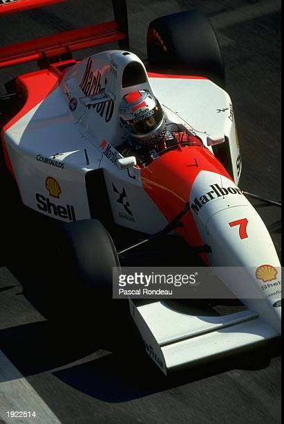 Michael Andretti of the USA in action in his McLaren Ford during the Italian Grand Prix at the Monza circuit in Italy Andretti finished in third...