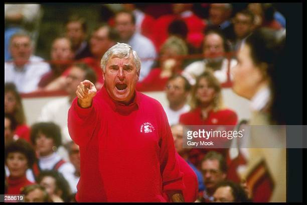 Indiana Hoosiers head coach Bob Knight looks on during a game against the Minnesota Golden Gophers Indiana won the game 7866 Mandatory Credit Gary...