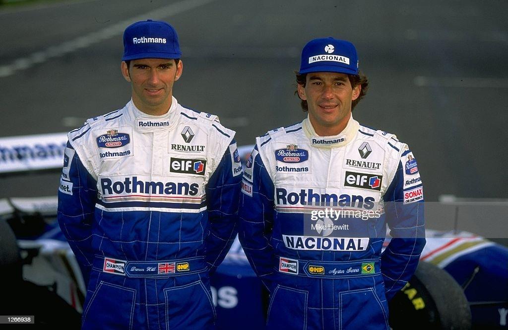 Damon Hill and Ayrton Senna : News Photo